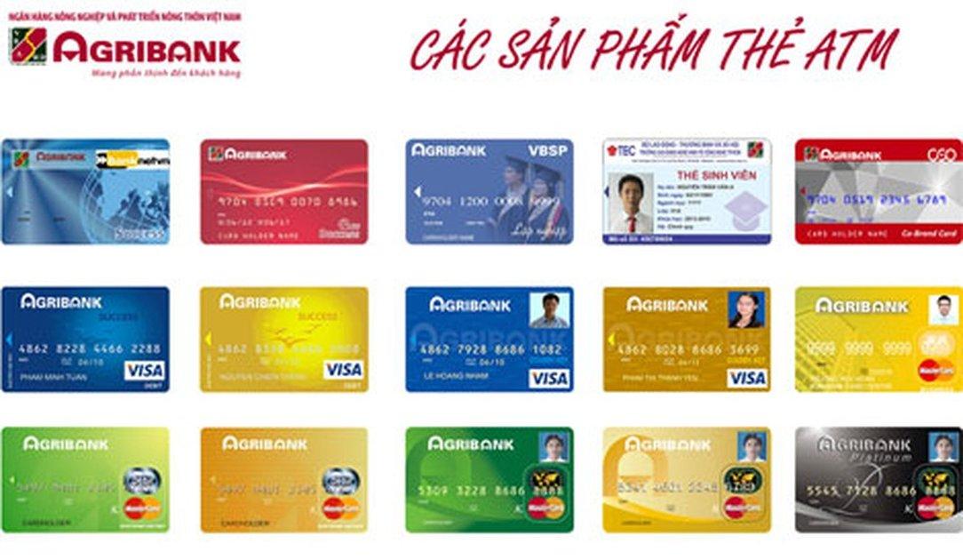 các loại thẻ atm Agribank