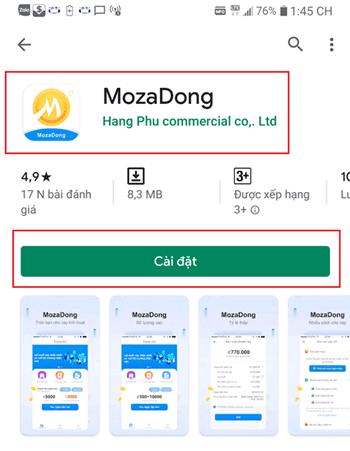 App mozadong vay tiền nhanh chóng