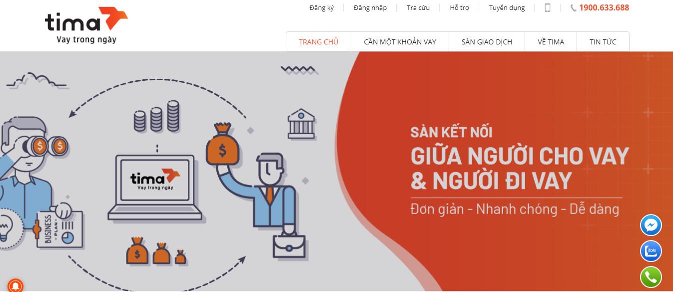 Vay tiền Tima – Sàn kết nối tài chính lớn nhất Việt Nam!