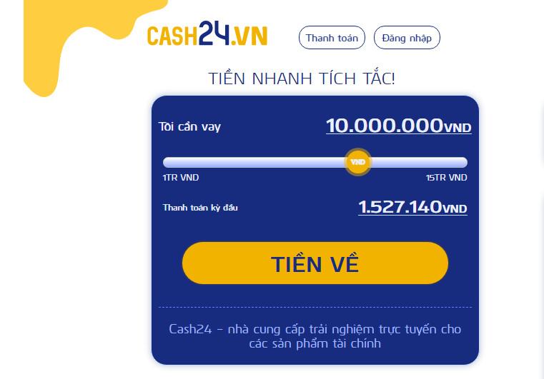 Vay tiền Cash24 – Giải pháp nhanh cho túi tiền của bạn!