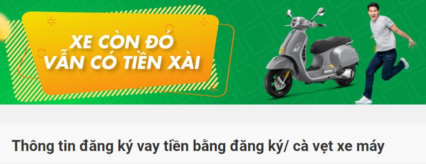 Vay tiền bằng cavet xe máy