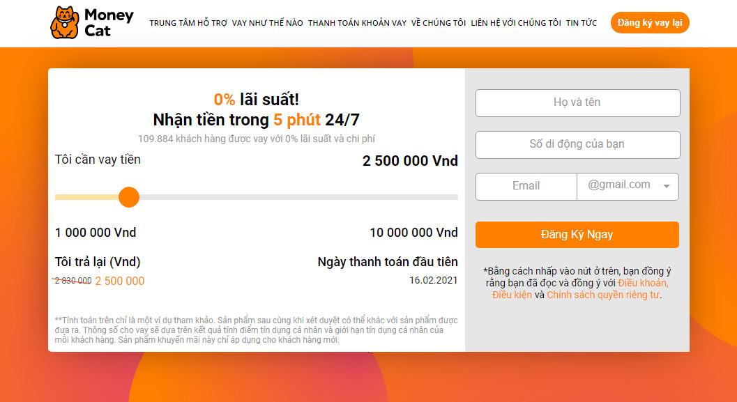 Vay tiền Moneycat – Vay online siêu tốc, 10 triệu liền tay!