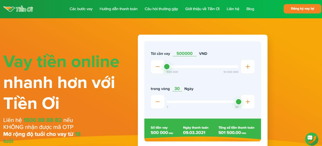 Vay tiền Tiền Ơi – Nhận tiền nhanh chóng với thủ tục cực đơn giản!