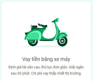 Vay bằng xe máy